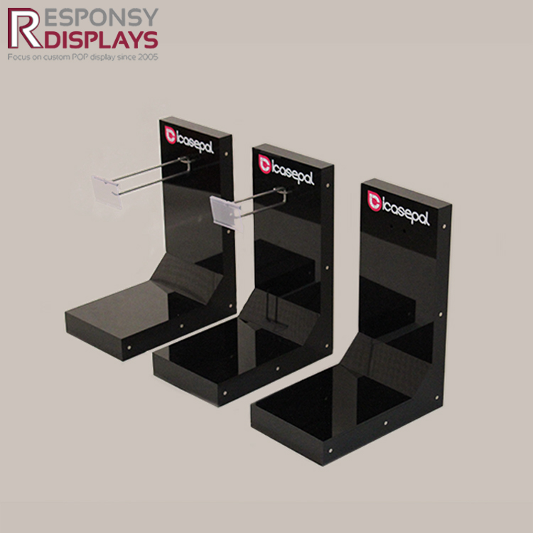 counter black acrylic display stand