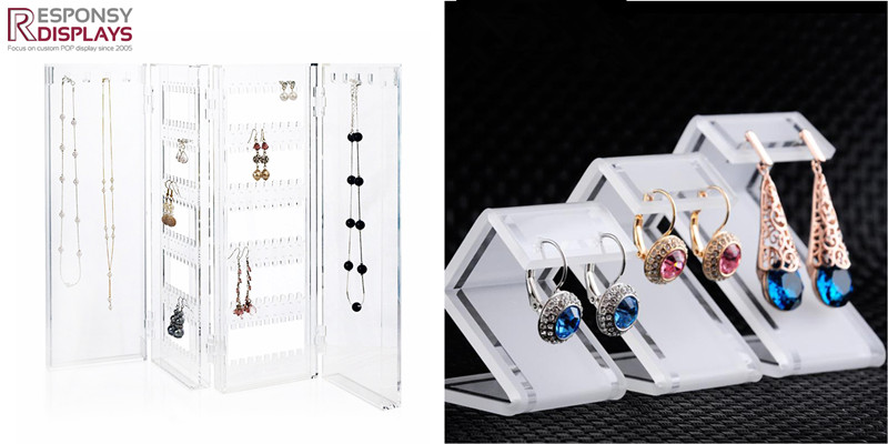 Transparent Acrylic Jewelry Display