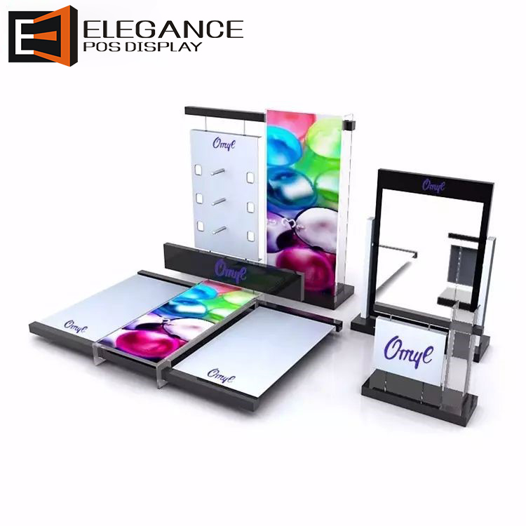 acrylic counter cosmetic display stand