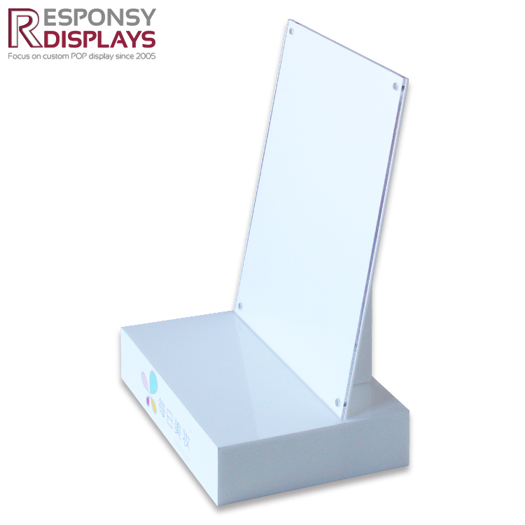 Promotion Creative Customized Counter Top Acrylic Cosmetics Display Shelf