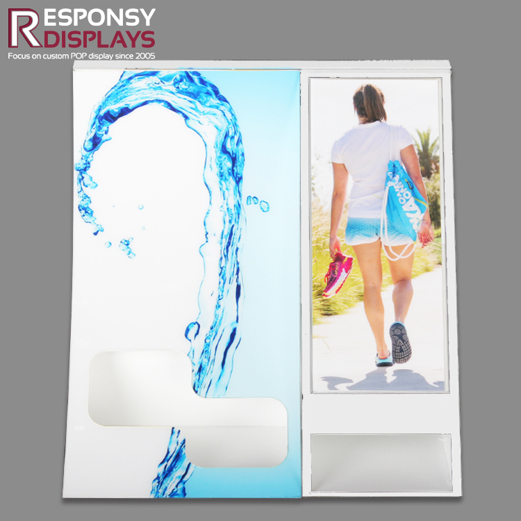 Counter Top Acrylic Shampoo Display Stand With Brand Poster