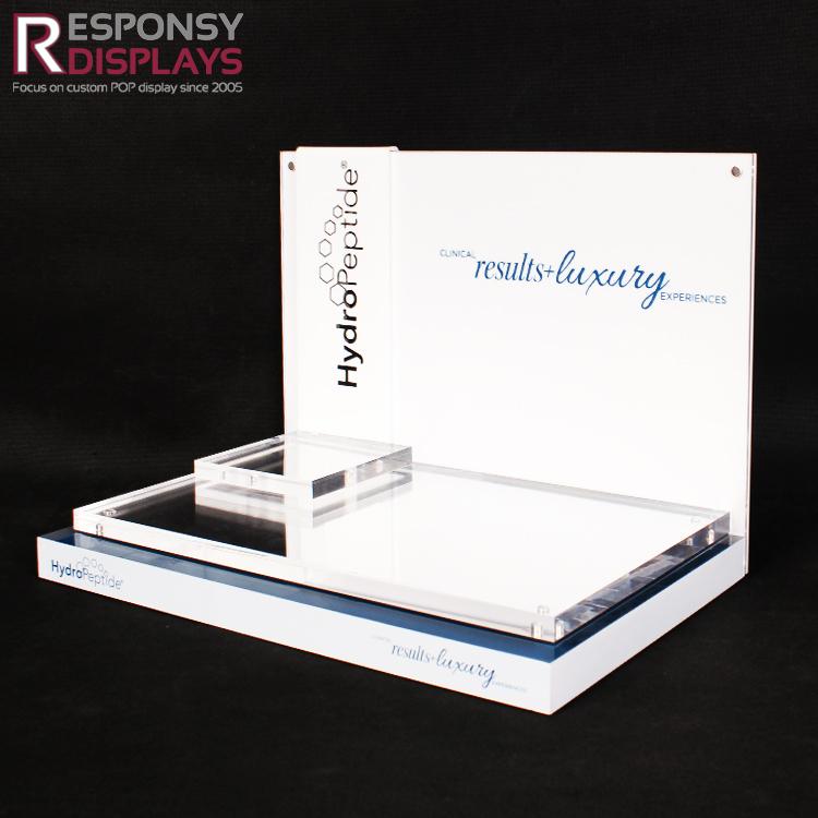 Custom Made Acrylic Cosmetic Displays On Responsyacrylic Com