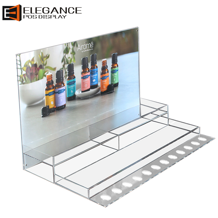 Premium & Cost-effective Table Top Clear Acrylic Essential Oil Display Rack