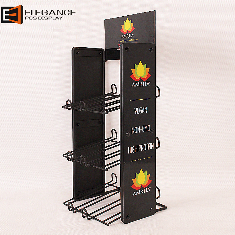 Wholesale Iron Wire And PVC Snack Display Rack For Promotion