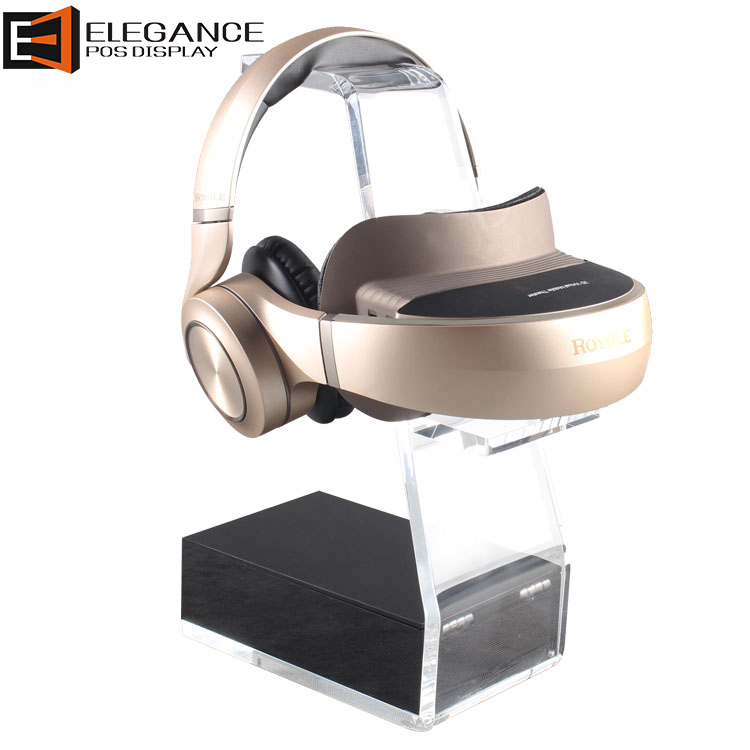 Simple Design Counter Clear Acrylic Theater Earphone VR Headset Display Rack