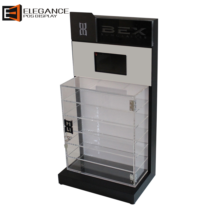 Hot Sale Customized Acrylic Countertop Sunglasses Display Box with Lock
