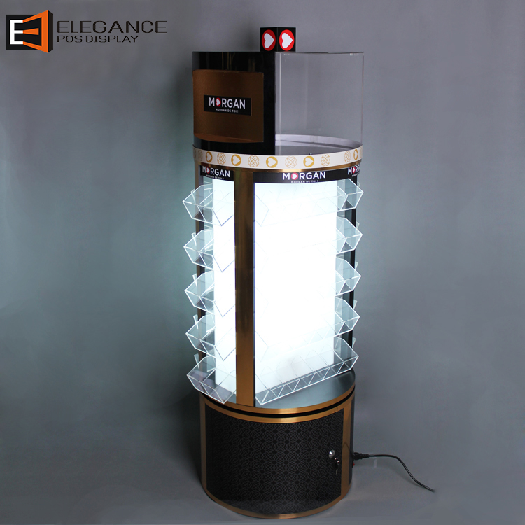 High End Customized LED Wood and Acrylic Floor Display Stand for Watches