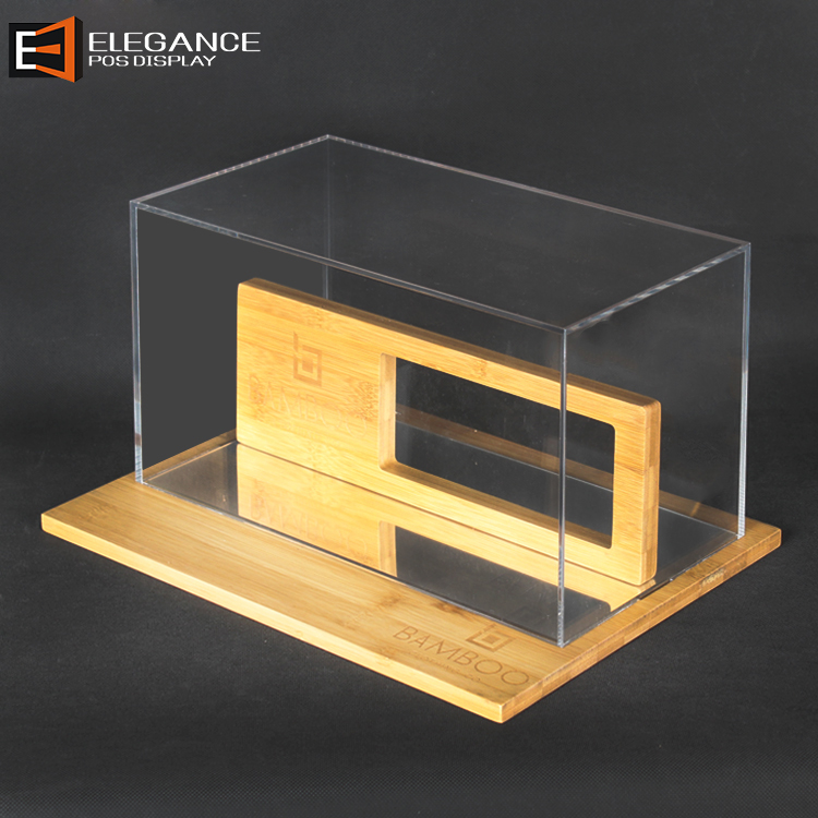 Counter Top Acrylic and Bamboo Eyeglasses Display Box