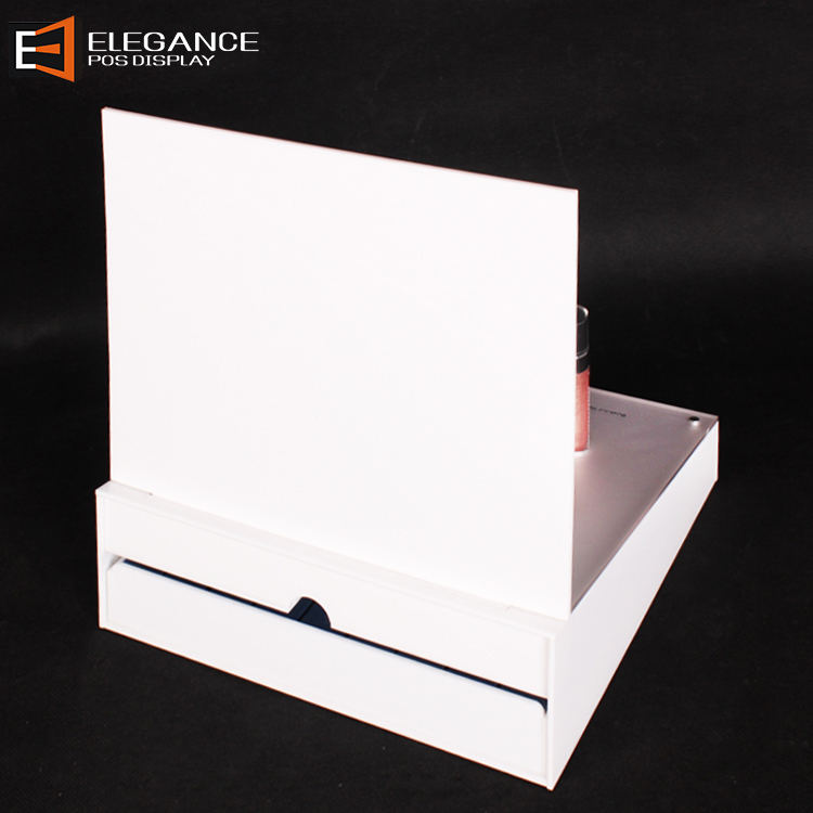 Attractive New Design Counter Top Acrylic Lip Gloss Display with Drawer