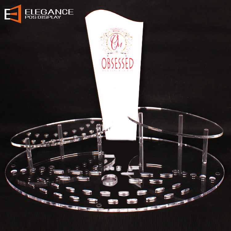 Multifunctional Powder Eye Shadow Tray Lipstick Display Stand Used For Cosmetic Displays