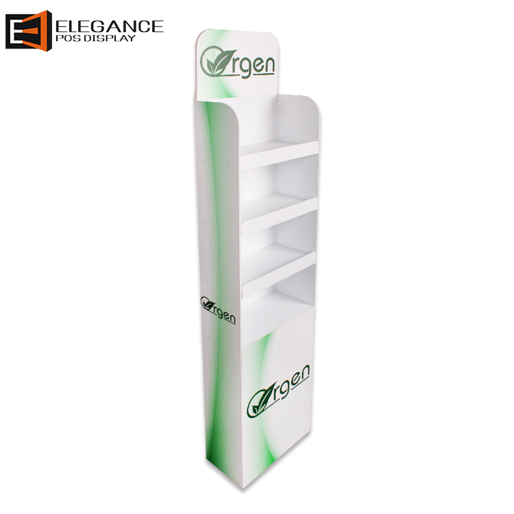 Floor Custom Made 4 Layers PVC Medicine Bottle Display Shelf