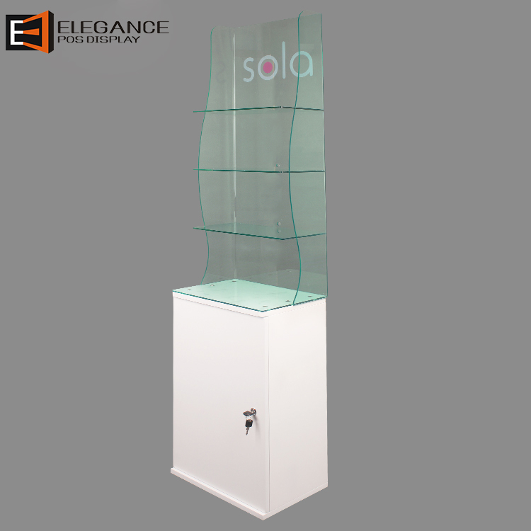 Floor Acrylic and Wood Adult Toys Display Cabinet with Lock