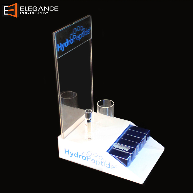 Acrylic Desktop Cosmetic Display Stand For Shopping Mall