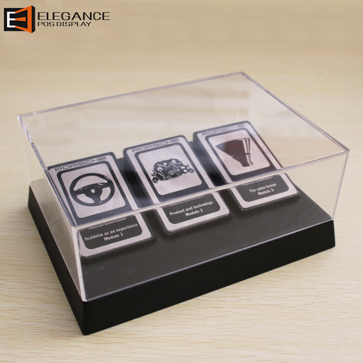 Clear Acrylic Car Badge Counter Display Box