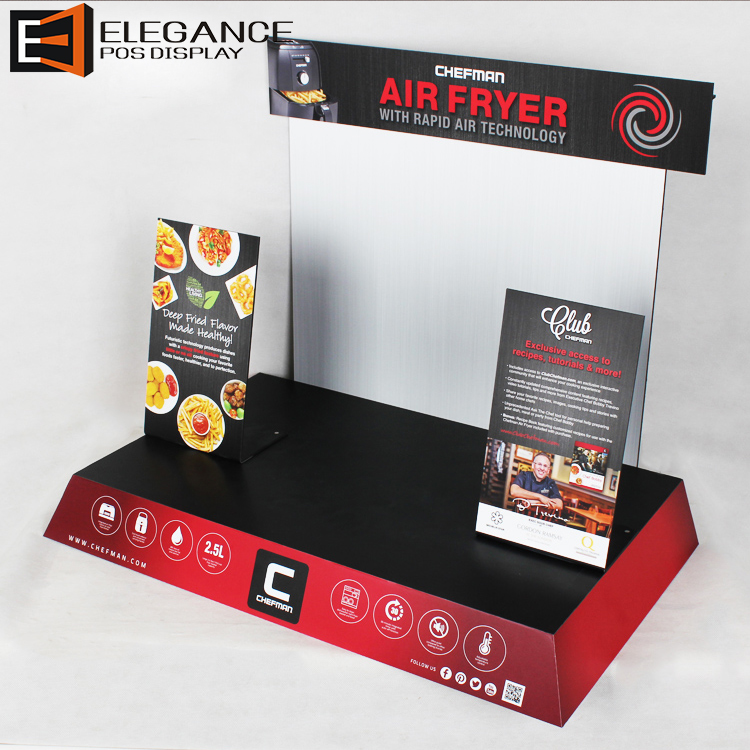 Costumized Counter Top PVC Electromagnetic Oven Display Induction Cooker Display Stand