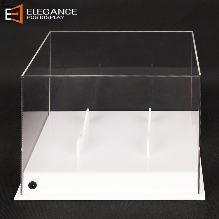 Counter Table Football Exhibit Clear Acrylic Box Rugby Display With Light