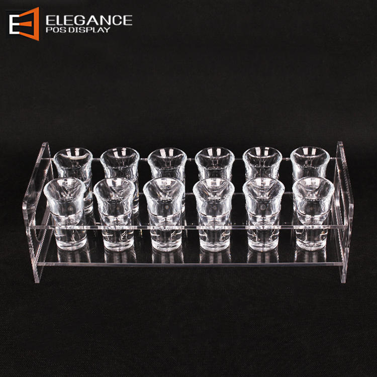 Clear Acrylic Wine Glasses Display Desktop Wine Glass Rack Display For 12 Pcs
