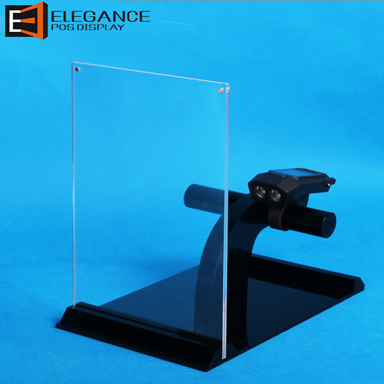 Counter Top Acrylic Mountain Bike Bicycle Handlebars Display Stand