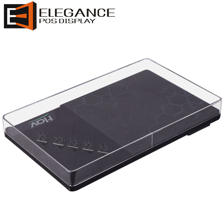 Desk Top Acrylic E Cig Displays Box with Magnets Attached on the Bottom